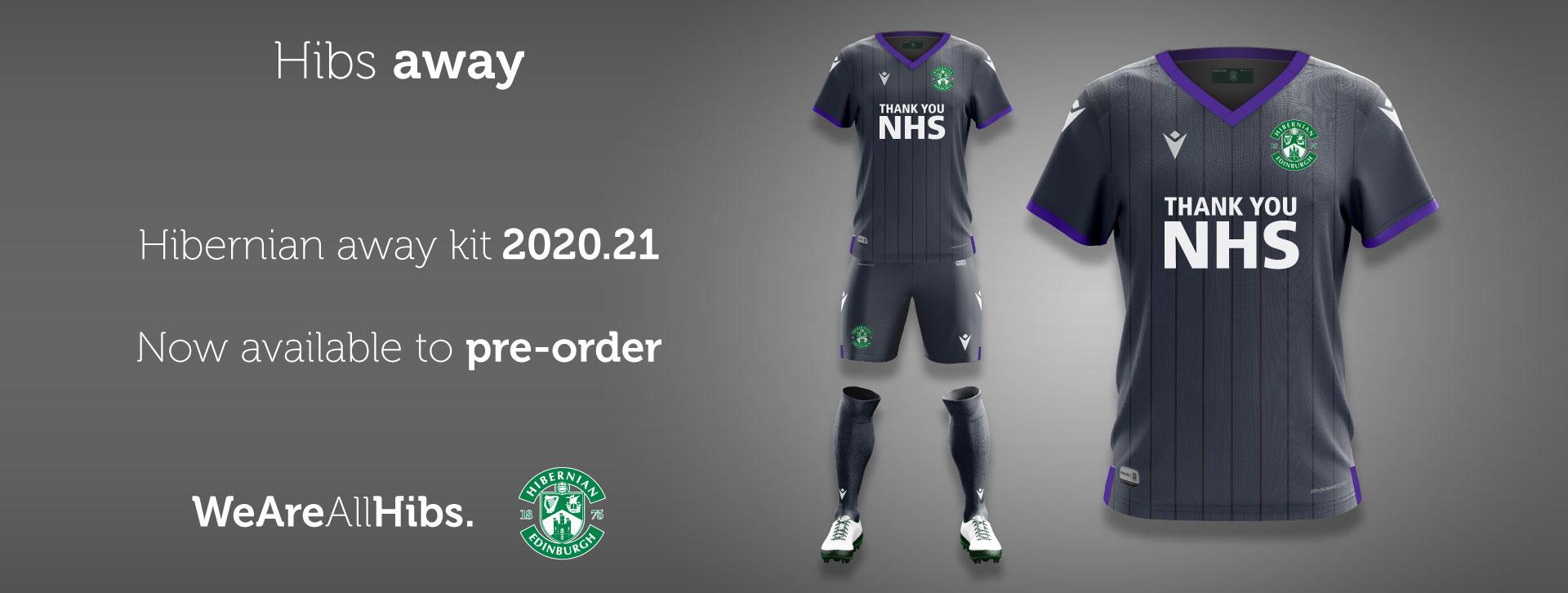 Hibernian FC 2020/21 Away Kit - Pre-Order
